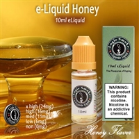 Golden Honey tendrils surrounding your senses is what you will be experiencing with our Honey flavored e Liquid.