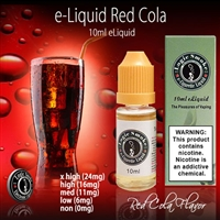 The flavor and aroma of your favorite red can cola, but without the fizz. You'll get hours of vaping pleasure and giant clouds of satisfying aroma to last you throughout the day.