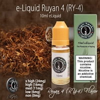 Bask in the amazing sweet undertones of caramel and vanilla with our RY4 e liquid. This unique tobacco flavor will lavish you taste buds and provide you with an amazing flavor experience.