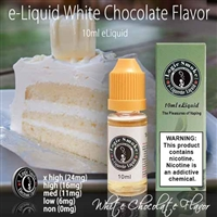 Treat yourself and your sweet tooth to our White Chocolate e Liquid. Sweet, creamy, rich flavor that will bring you hours of vaping joy.