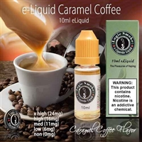 Put those snooty, expensive coffee joints to SHAME with our 10ml Caramel Coffee e Liquid. The combination of robust coffee and sweet caramel is an absolute fairy tale.