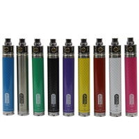 The eGo 2200mah Twist Variable Voltage Battery comes in three vibrant carbon fiber colors and is eGo/510 threaded.