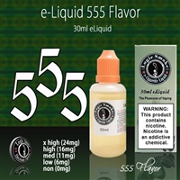 Roasted tobacco, 555 Vape Juice