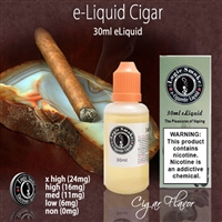 The classic flavor and tobacco bouquet of a classic hand rolled cigar is what you'll experience when you vape our Cigar flavored e liquid.