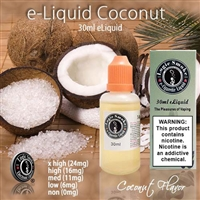 Our Coconut flavor is a creamy tropical paradise made just for pleasing your taste buds.