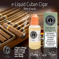 There's nothing like the flavor and aroma of a hand rolled Cuban cigar. But you can now enjoy it in our Cuban Cigar flavored e liquid.