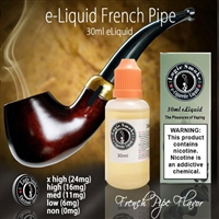 Enjoy the sophisticated flavor and aroma of our French Pipe flavored electronic cigarette e-liquid.
