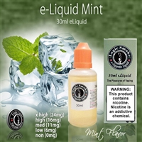 Like a fresh spring breeze! Our Mint flavored e-liquid is a vape that you will truly enjoy.