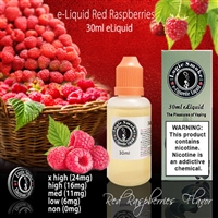A tart Raspberry e Liquid.