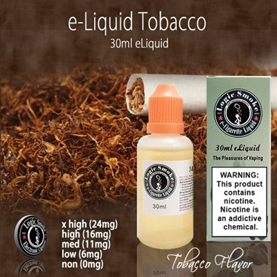 Natural tobacco vape liquid.