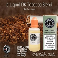 Smooth flavor and nutty caramel overtones are what you'll enjoy in this  full bodied tobacco flavored e liquid. DK Tab is a stunning flavor to vape.