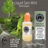 30ml Sam Mint Flavor e Liquid