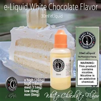 30ml White Chocolate Flavor e Liquid