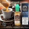 Caramel infused coffee vape juice.
