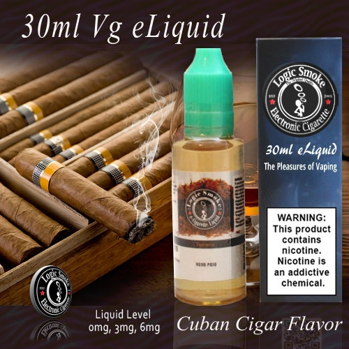 30ml VG Vape Juice Cuban Cigar Flavor