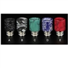 Designer Drip Tips Wide Bore Marble Crackle Style