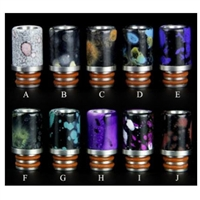 Designer Drip Tips Wide Bore Marble Splatter Style