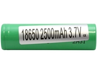 Samsung 25R INR 18650 2500mAh 20A Green Flat Top Battery