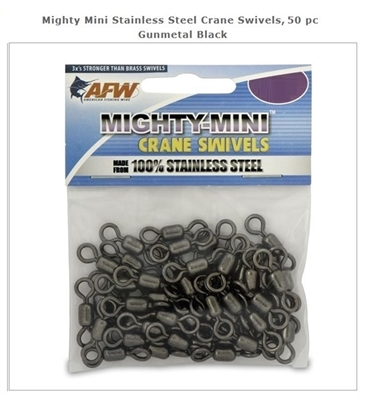 AFW MIGHTY-MINI STAINLESS STEEL CRANE SWIVELS- 50 PACK