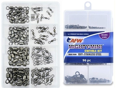 AFW MIGHTY-MINI STAINLESS STEEL CRANE SWIVELS KIT- 96 PIECES- #TKB00008