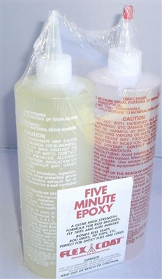 FLEX COAT 32 OZ. FIVE MINUTE EPOXY GLUE KIT #Q32