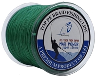 SUPER STRONG 4 STRAND PRO PE GREEN POWER BRAIDED FISHING LINE- 500M