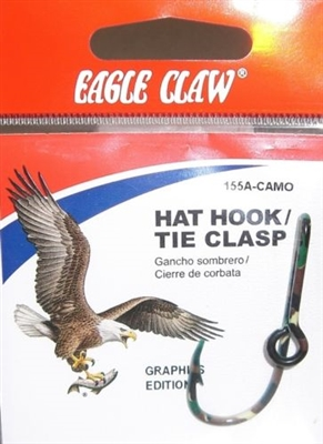 EAGLE CLAW CAMO HAT HOOK/TIE CLASP #155A-CAMO