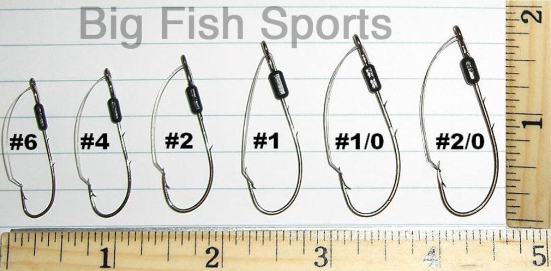 EAGLE CLAW Weedless Fishing Hooks 40 Pack #2//0 SZ #449WA