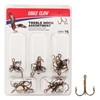 EAGLE CLAW TREBLE HOOK ASSORTMENT- 25 PIECES #610H