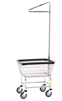 R&B 100E91 Stardard Laundry Cart w/Single Pole Rack