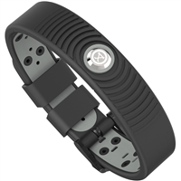 ProExl 18K Sports Magnetic Bracelet - Waterproof - Breathable Strap - Power & Energy - Black Gray
