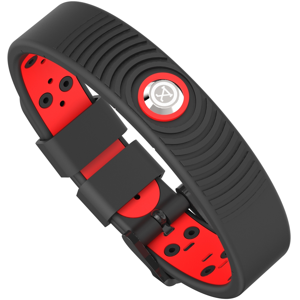 ProExl 18K Sports Magnetic Bracelet - Waterproof - Breathable Strap - Power & Energy - Black Red