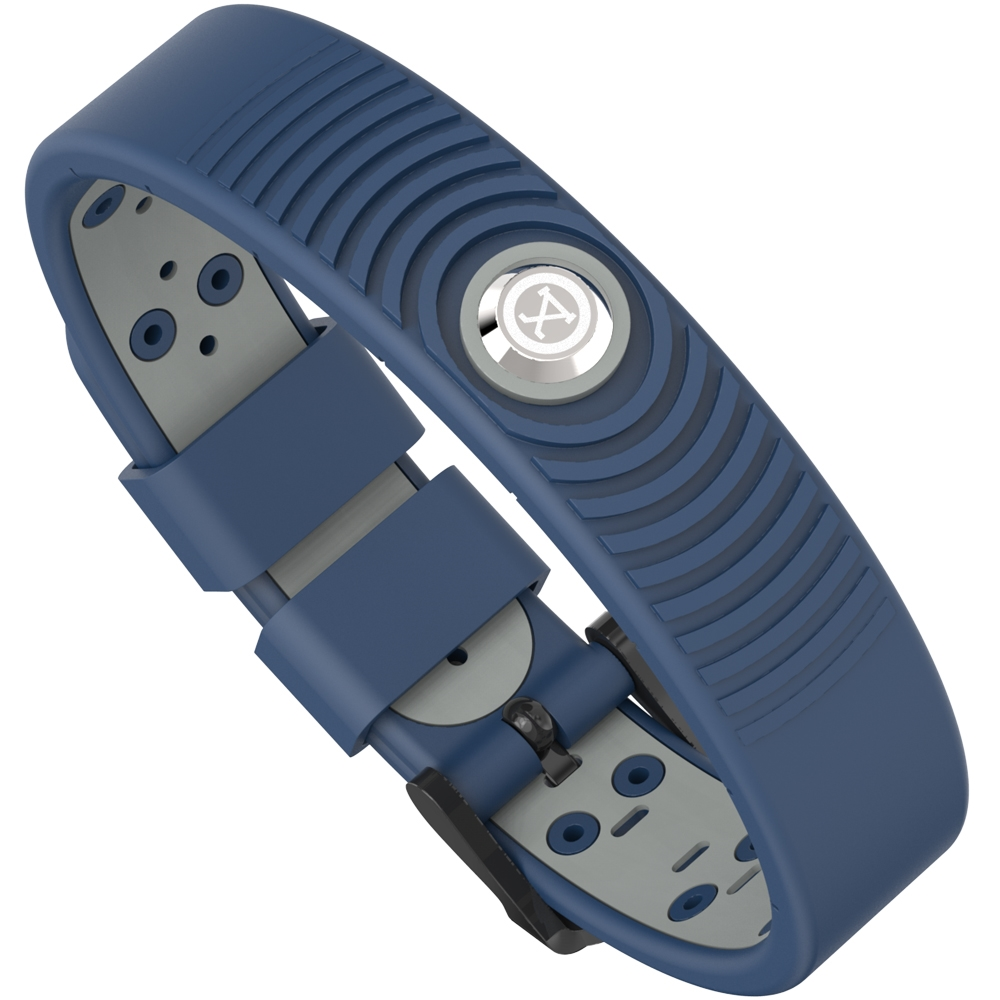 ProExl 18K Sports Magnetic Bracelet - Waterproof - Breathable Strap - Power & Energy - Blue Gray