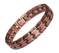Solid Copper Link Magnetic Bracelet Roma