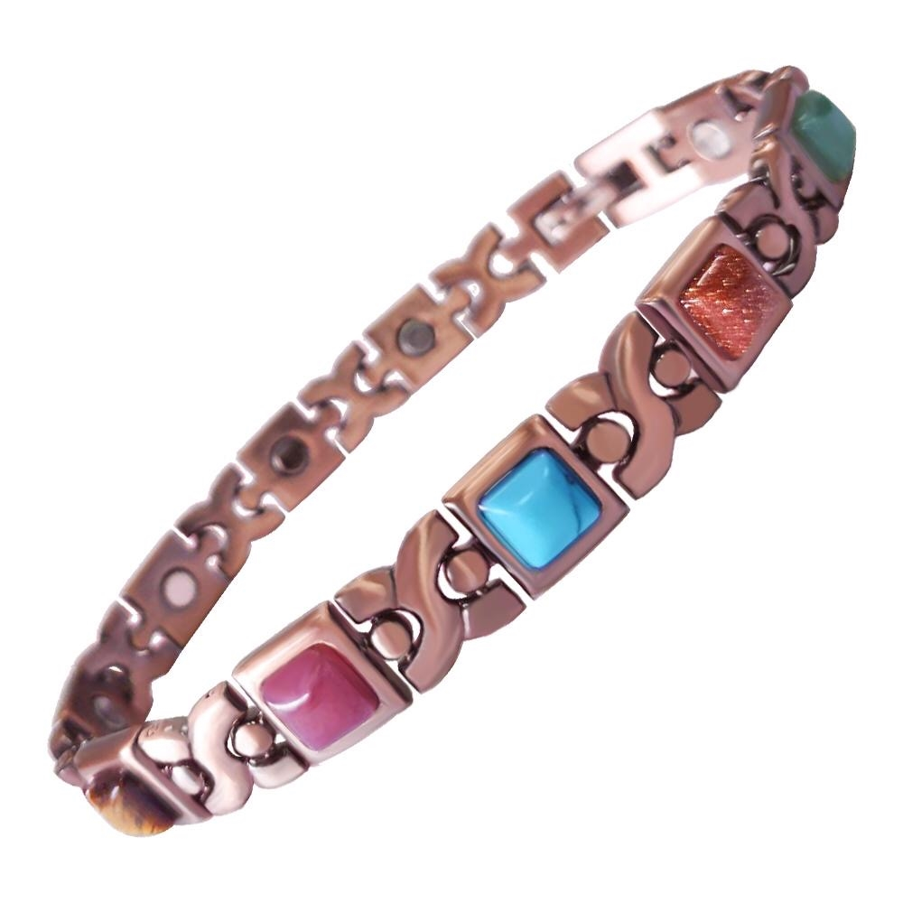Womens Verona Multi Copper Magnetic Bracelet