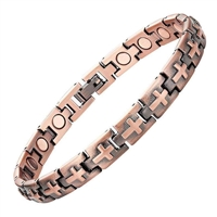 Womens Christian Cross Copper Magnetic Bracelet