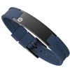 Ultimate Satin Black Magnetic Bracelet with Blue Strap