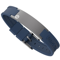 Ultimate Graphite Gray Magnetic Bracelet with Blue Strap