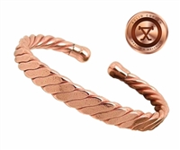 Mens York Copper Magnetic Bracelet