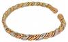 Womens Rose Copper Magnetic Bracelet