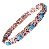 Womens Velino Copper Magnetic Bracelet