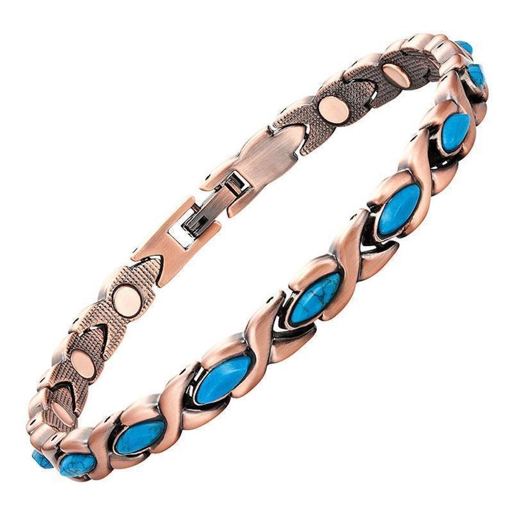 Womens Turquiose Varese Copper Magnetic Bracelet