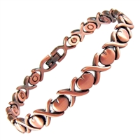 Womens Hearts Amori Copper Magnetic Bracelet