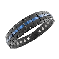 Titanium Energy Golf Magnetic Bracelet in Black Blue