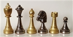 "3"" Metal Staunton Chess Pieces (Italfama)"
