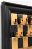 Black Cherry Chess Board with Black Contemporary Frame