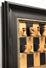 "3"" Columbian Chess Pieces on Black Cherry Board with Dark Bronze Frame"
