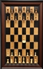 "3"" Supreme Golden Rosewood Chess Pieces on Black Cherry board with Red Accent Frame"