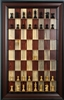"3"" Red Beetle Kill board with Red Accent Frame and Supreme Chess Pieces"