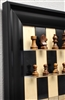 "3"" German Knight Chess Pieces on Black Maple Board with Black Contemporary frame"